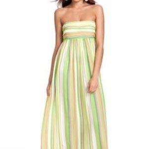Calypso Strapless Striped Maxi Dress